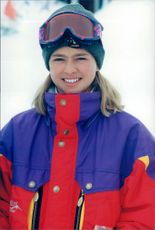 Portrait of the Princess Madeleine during the royal family skiing holiday in Storlien.