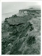 A scene after the substantial cliff fall at East Runton.