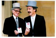 Sir Peter O'Sullevan with his CBE.