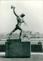 General Assembly building: statue of poseidon