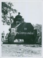 A tank on the advance