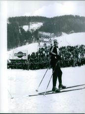 Tony Sailer before the Ski Competition. 1962