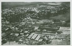 Aerial view of Sandviken - postcard