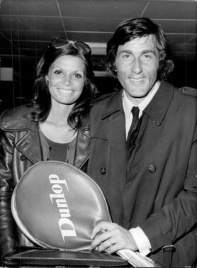 The tennis player Ilie Nastase arrives at London Airport from Milan together with Mrs. Dominique