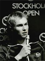 Jan Gunnarsson during a press conference in connection with the Stockholm Open