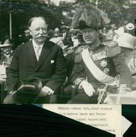 Swedish Crown Prince Couple Gustaf VI Adolf and Louise Mountbatten's Trip to the United States and Japan in 1926. Crown Prince along with William Howard Taft.