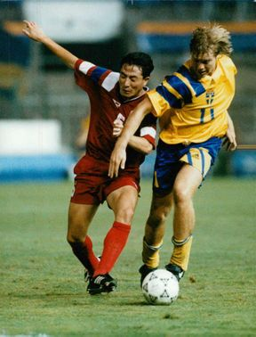 Per Tomas Brolin during a match.