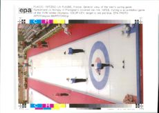 Curling game switzerland 1992 Winter Olympics.