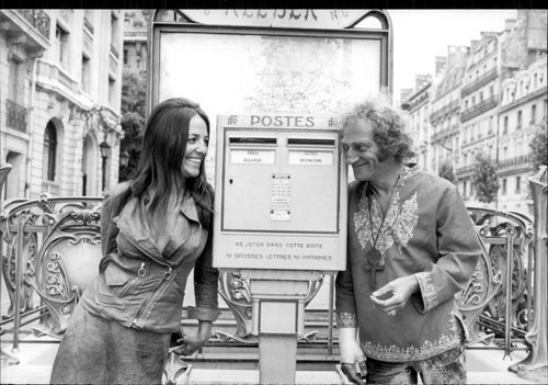 Marty Feldman and his wife Loretta Sullivan during a visit to France.