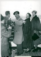 Field Marshal Viscount Montgomery arrives in New York