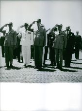Raoul Salan is paying respect with a salute. 1968