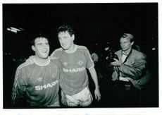 Clayton Blackmore and Steve Bruce