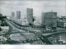 View of the Warsaw City Center, 1984.