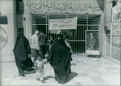 Voting underway in the iraq capital of bagdad.