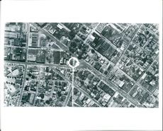 An aerial view of cambridge, mass shows capability of modern air force aerial photography.