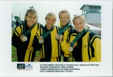 Swedish bronze in women's K4 500 meter during the Olympics.