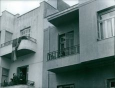 People at balcony. 1959