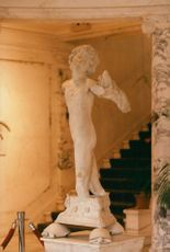 Statue in the foyer of a building on Fifth Avenue in New York, believed to be made by Michelangelo