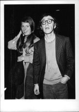 "Heywood ""Woody"" Allen with his wife."