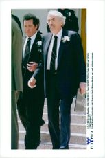 Portrait image of Gregory Peck taken at Frank Sinatra's funeral in Palm Springs.