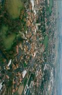 Aerial view of city.