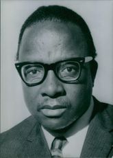 Portrait of Botawana politician Moutlakgola P.K. Nwako, 1971.