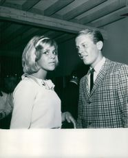 Lindsey Brislen with a man.  - Aug 1963