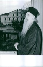 Athenagoras I during an unprecedented visit to the Holy Land, Jerusalem. 1964.