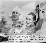 Sims Per Johansson and Pelle Holmertz during OS in Moscow 1980