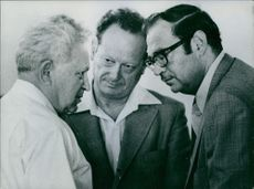 Israel Galil, Yigal Allon and Simcha Dinitz, 1971.