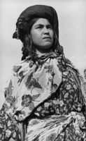 A photo of a local woman.