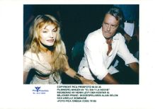 "Actors Arielle Dombasie and Alain Delon during the recordings of the film ""El dia y la noche"""
