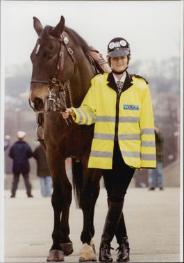 Female police Diane Mostyn with police officer Susannah Constantine