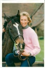 Tracey Bailey with a horse.