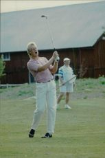 Golf player Mikael Karlsson in an unknown competition context.