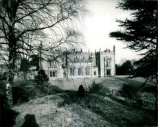 A Southern view of Arbury Hall.