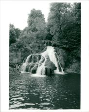 The waterfall on the  River Cuisance near Arbois.