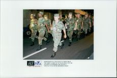 The army is sent to the Olympic Village to increase security after the explosion in Centennial Olympic Park