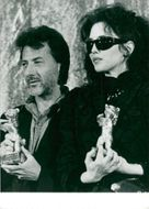 "Dustin Hoffman and Isabelle Adjani each win ""Golden Bear"" at the Berlin Film Festival."