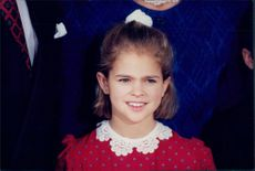 8-year-old princess Madeleine during the royal family's traditional Christmas photography.