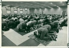 First day of prayer at London Central Mosque.