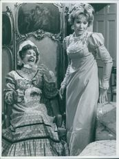 "Barbara Couper and Susan Hampshire in ""Vanity Fair."" 1967."