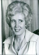 Portrait of Lady Falkender, 1977.