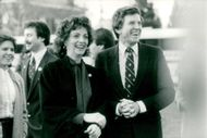 Colorado Senator Gary Hart with his wife Lee