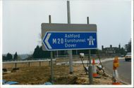 Channel Tunnel: Eurotunnel Road Sign.