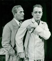 """Edvin Adolphson and Sven Lindberg in Tennessee Williams """"Hot Hot Cat Cat"""" on the Vasateater"""