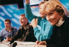 British equestrian Lucinda Green during a Sports quiz show