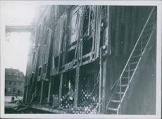 War damages in Trondheim Allies bombarded against German