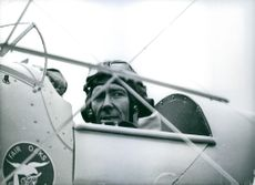 Lord Snowdon, in the cockpit of of a light aircraft during a photographic assignment in March 1969.