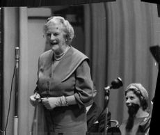 Clementine Churchill at election meeting 1959.
